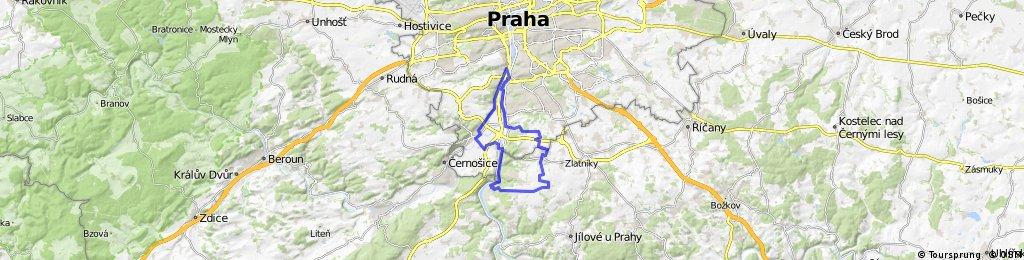 Malá Chuchle-Modřany-Holupice-Dolní Břežany-Vrané nad Vltavou-Chuchle