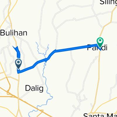 Pulong Gubat Road 60, Balagtas to VX75+63W, Pandi