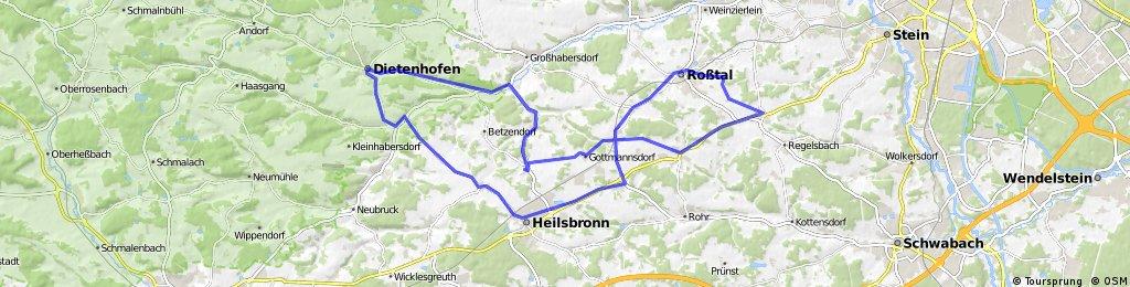 Heisbronn, Ketteldorf, Neuhöflein, Dietenhofen, Schaighausen, Bonnhof, Gottmannsdorf, Raitersaich, Buchschwabach, Großweismannsdorf, Roßtal