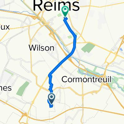 De 5 Rue Marcel Migeo, Reims à 8 Rue Saint-Pierre les Dames, Reims