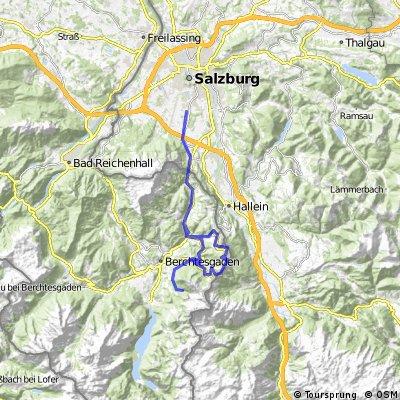 Salzburg-Gneis – Obersalzberg/Rossfeldstrasse – Salzburg-Gneis
