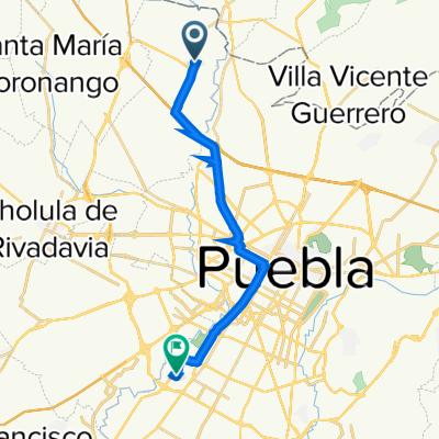 Ruta a Claustro de Los Pelícanos 24, Heroica Puebla de Zaragoza