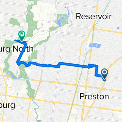 499 Plenty Road, Preston to 10 Dairy Drive, Coburg North
