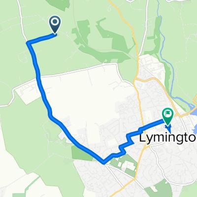 North Common Lane, Sway, Lymington to 55 New St, Lymington