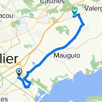 De 3 Place du Nega Cat, Lattes à 304 Route Impériale, Baillargues