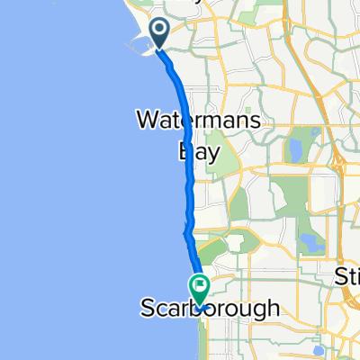 West Coast Drive, Hillarys to The Esplanade, Scarborough