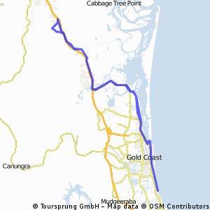Pedal na Veia Ormeau to Gold Coast