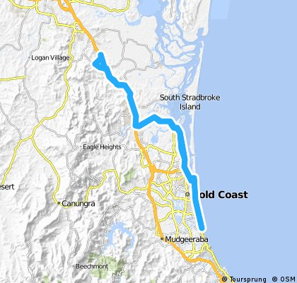 Pedal na Veia Ormeau to Gold Coast