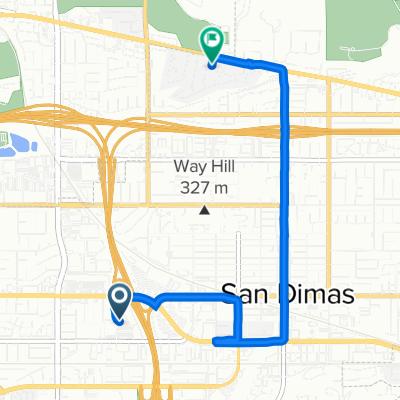 888 W Arrow Hwy, San Dimas to 433–439 Woodglen Dr, San Dimas