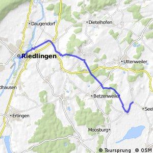Donau-Bodensee-Radweg West-Zubringer Riedlingen