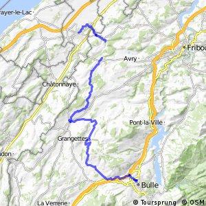 rcn 87 - La Broye-La Gruyère (Payerne-Bulle)