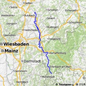 Deutscher Limes-Radweg 3. Abschnitt Hungen - Miltenberg