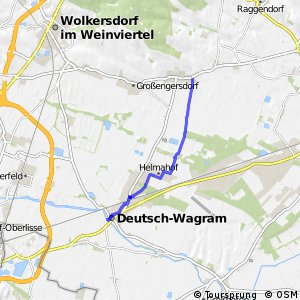 City-Route Deutsch-Wagram - Bockfließ