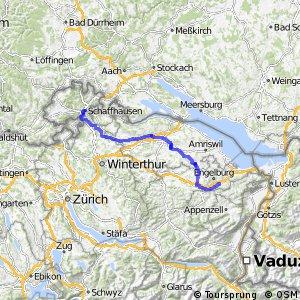rcn 26 - Ostschweizer Wein-Route (Schaffhausen - St. Gallen)