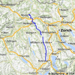 Dietwil-Sins-Bremgarten-Mellingen-Brugg
