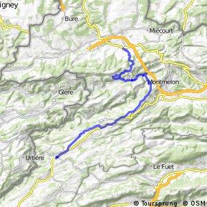 ncn 7 - Etappe 2 (Courgenay (Courtemautruy)-Saignelégier)