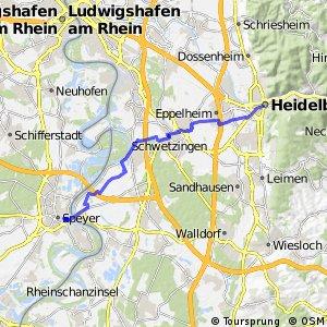 Kurpfalzroute Radweg von Heidelberg nach Speyer | Bikemap - Deine ...