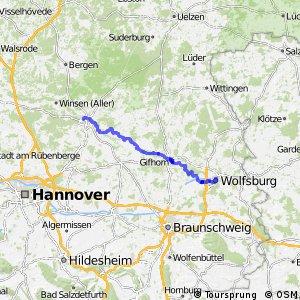 Aller-Radweg Celle-Wolfsburg