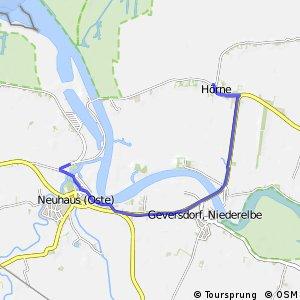 [D10] Elberadweg Aternativroute Neuhaus