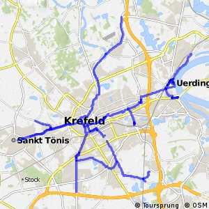 Radverkehrsnetz NRW, Stadt Krefeld