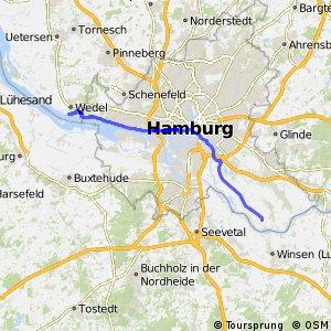 [D10] Elberadweg [Abschnitt C] Wedel - Ochsenwerder [rechtselbisch]