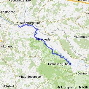 [D10] Elberadweg [Abschnitt E] Lauenburg - Hitzacker [linkselbisch]
