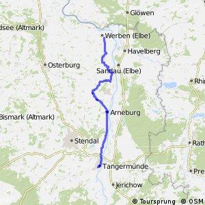 [D10] Elberadweg [Abschnitt H] Havelberg - Tangermünde [linkselbisch]