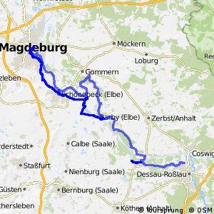 [D10] Elberadweg [Abschnitt J] Magdeburg - Dessau-Roßlau