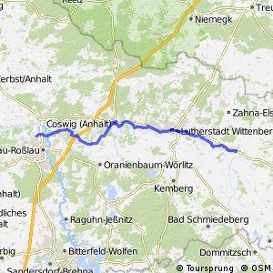[D10] Elberadweg [Abschnitt K] Dessau-Roßlau - Elster [rechtselbisch]