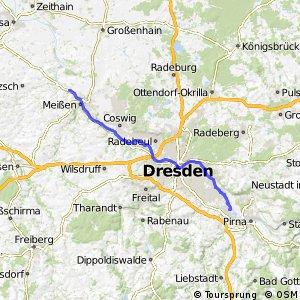 [D10] Elberadweg [Abschnitt N] Meißen - Heidenau [linkselbisch]