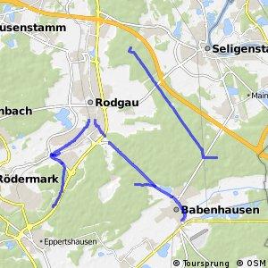 Radwegnetz Rodgau-Babenhausen-Seligenstadt