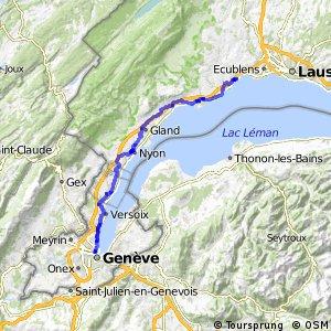 Route du Rhône - Etappe 7 (Morges–Genève)
