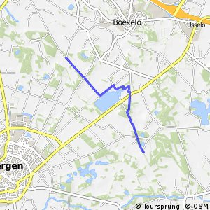 MTB route verbinding Twickel-Haaksbergen