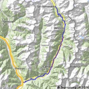 ncn 6 - Etappe 7 (San Bernardino-Bellinzona)