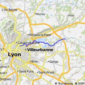 ViaRhôna : Jons - Lyon