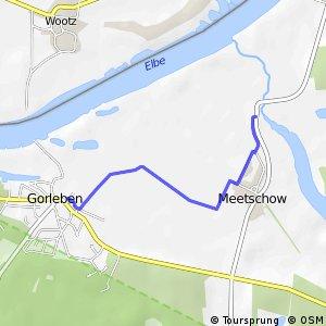 [D10] Elberadweg [Abschnitt F] Teilabschnitt Gorleben-Seegebrücke via Meetschow [linkselbisch]