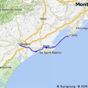 Voie verte Canal du Midi de Béziers à Portiragnes-Plage