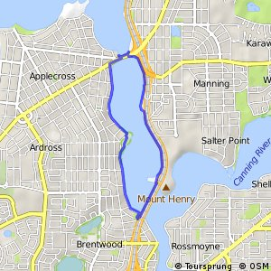 Ride around the Rivers Ride 9 - Canning Bridge to Mount Henry Bridge and return