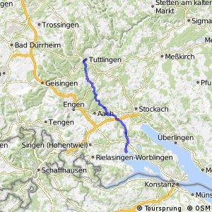 Hohenzollern-Weg Abschnitt Tuttlingen-Radolfzell
