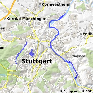 Radverkehrsnetz BW, Stuttgart