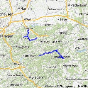 Radverkehrsnetz NRW, Hochsauerlandkreis