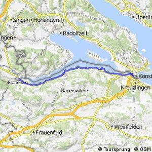 Bodenseeradweg Abschnitt Stein am Rhein–Radolfzell