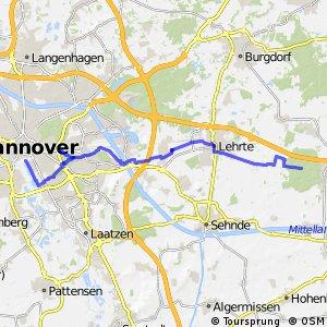 Fahrradregion Hannover - Regionsroute 12