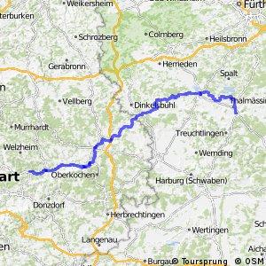 Deutscher Limes-Radweg 5. Abschnitt Lorch - Weißenburg