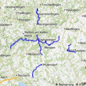 Radverkehrsnetz BW, Landkreis Sigmaringen