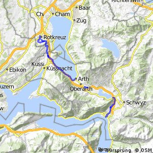 rcn 77 - Etappe 1 (Brunnen - Rotkreuz)