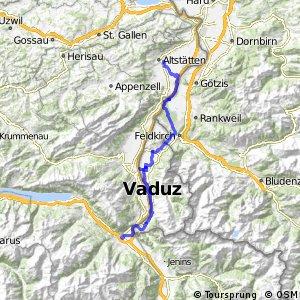 rcn 35 - Liechtensteiner Rheintalroute (Sargans - Altstätten)