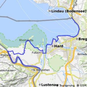 Bodenseeradweg Abschnitt Österreich