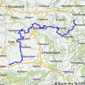 BahnRadRoute Hellweg-Weser Hauptroute