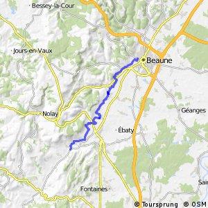 Véloroute Beaune - Santenay